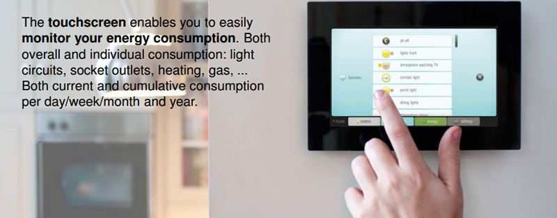 Touch screen energy controls